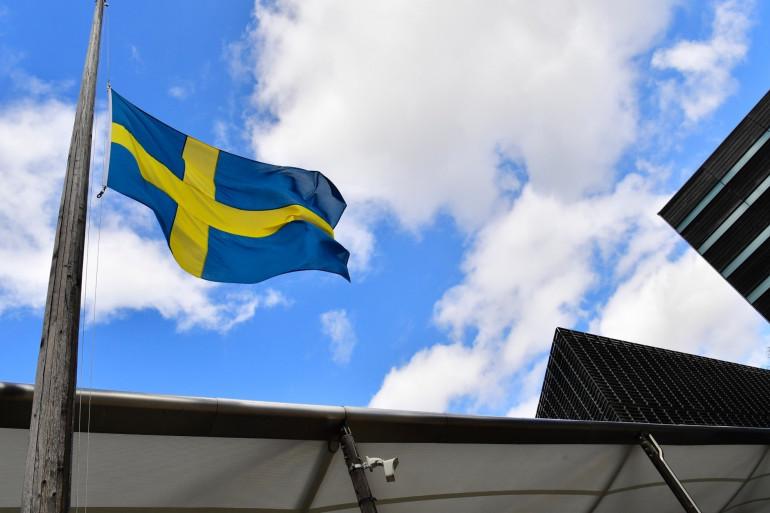 Un drapeau de la Suède (illustration)