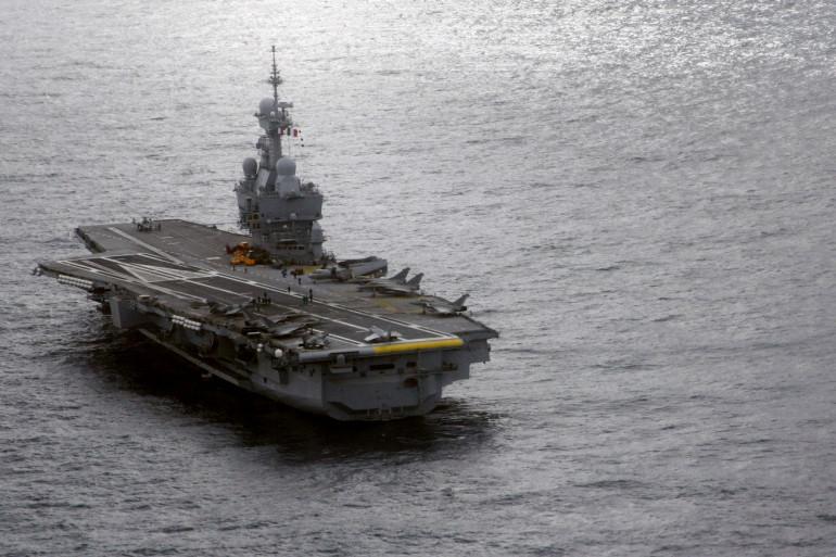 Le porte-avions français en Méditerranée en février 2009 (Archives)
