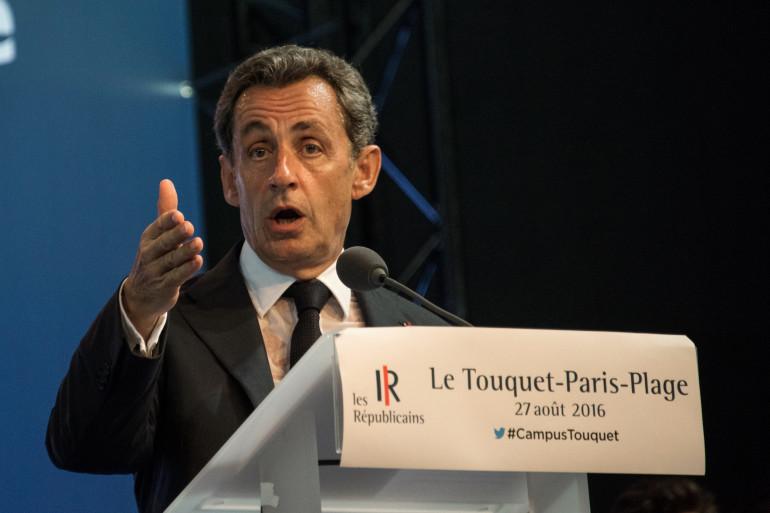 Nicolas Sarkozy lors de du campus des Jeunes républicains, au Touquet, samedi 27 août 2016.