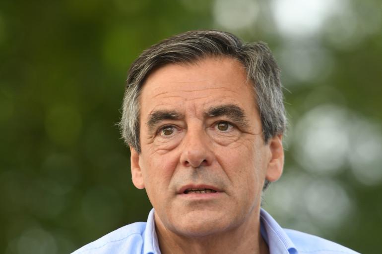 François Fillon, lors de son meeting le 28 août à Sable-sur-Sarthe