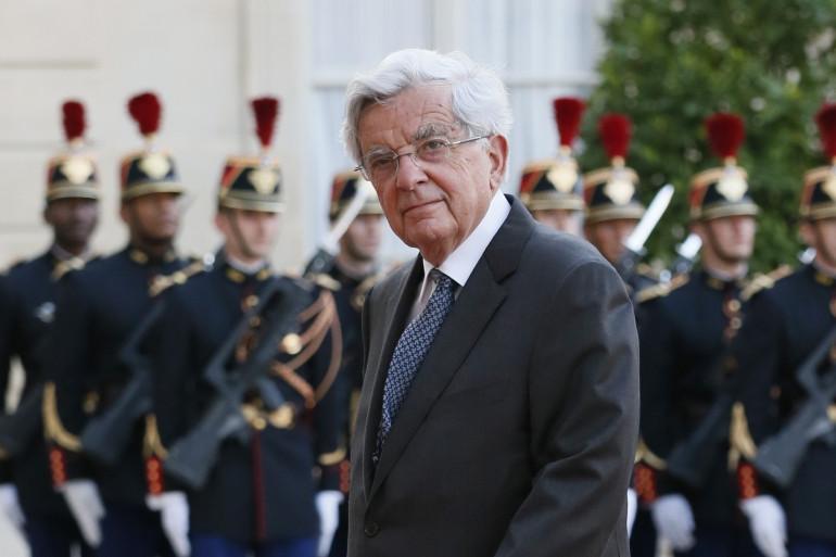 Jean-Pierre Chevènement à l'Élysée, en septembre 2013