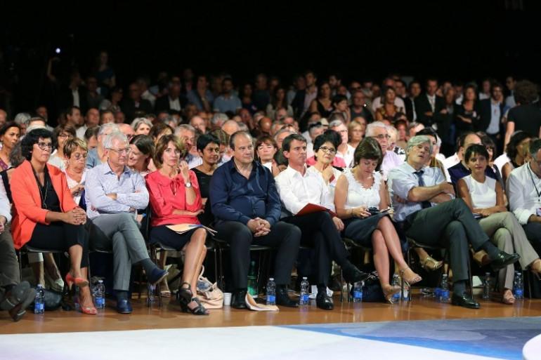 Manuel Valls et plusieurs ministres réunis à Colomiers, le 29 août 2016