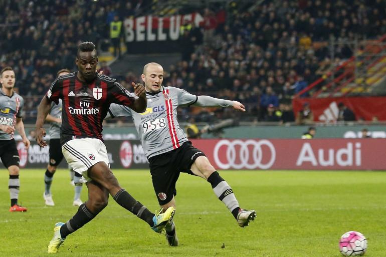 Mario Balotelli sous les couleurs du Milan AC le 1er mars 2016