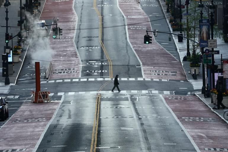 Une rue de Manhattan (New York) déserte, le 19 avril 2020.