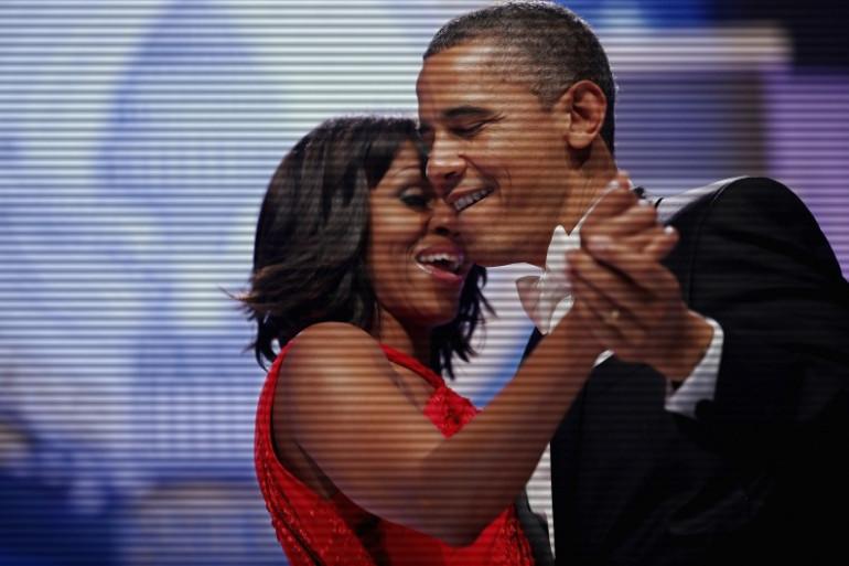 Le président Barack Obama et Michelle Obama lors du gala de la Maison Blanche, le 21 janvier 2013