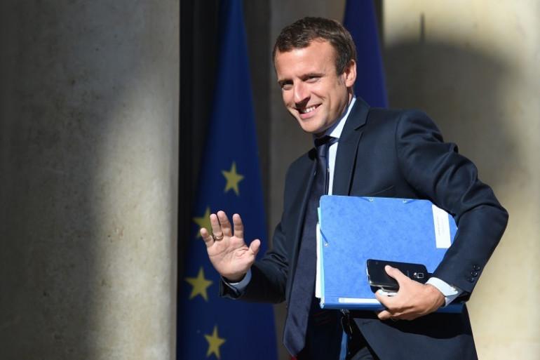 Emmanuel Macron le 22 août 2016. Le ministre de l'Économie a démissionné du gouvernement ce mardi 30 août dans l'après-midi pour se consacrer intégralement à son mouvement politique.