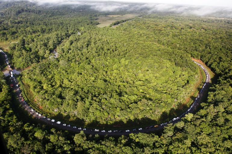 Un paysage près de Cayenne, en Guyane  (illustration)