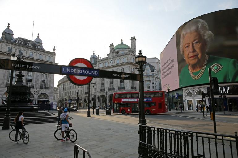 Illustration de Piccadilly Circus à Londres le 9 avril 2020
