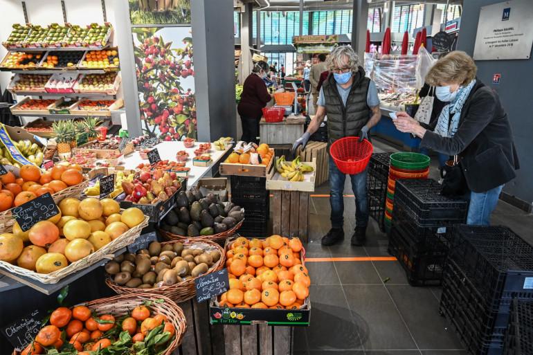 Un étal de fruits et légumes à Montpellier (Illustration).