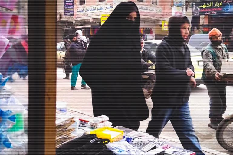 Une femme sur un marché en Syrie (illustration)