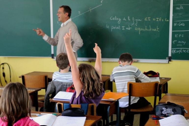 Une salle de classe (illustration)