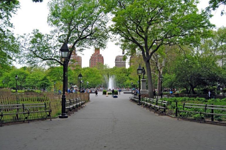 L'entrée de Central Park à New York