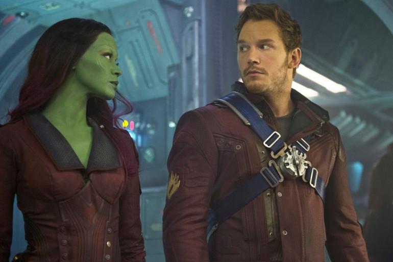 """Gamora et Star-Lord dans le premier """"Gardiens de la Galaxie"""""""