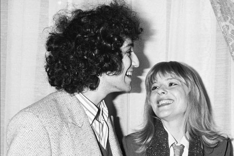 Michel Berger et France Gall en avril 1978.