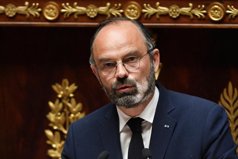 Le premier ministre Édouard Philippe devant l'Assemblée nationale le 28 avril 2020