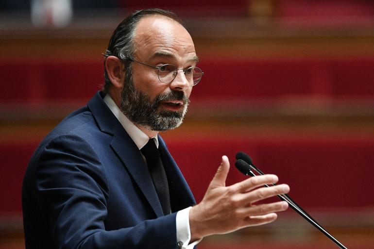 Édouard Philippe le 28 avril 2020 devant les députés à l'Assemblée nationale