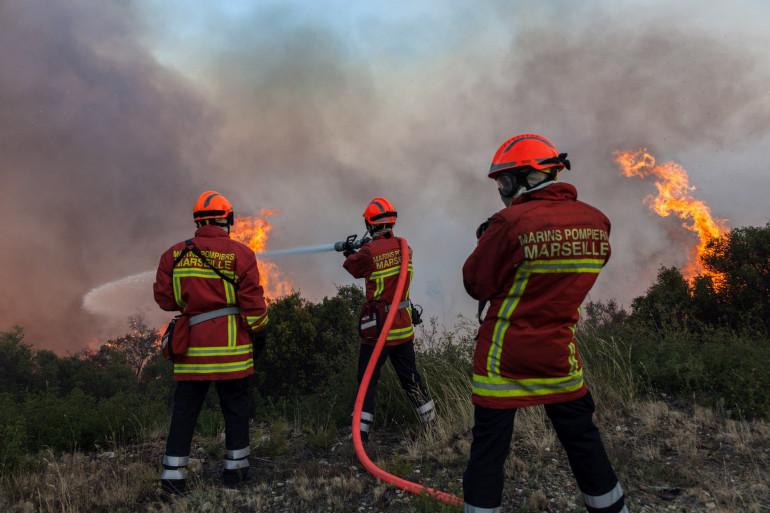 Les marins pompiers de Marseille en action