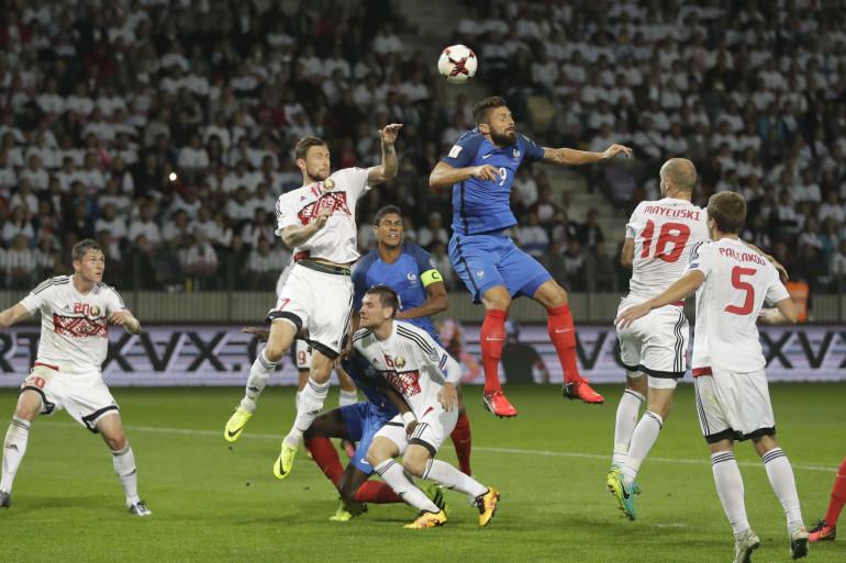 Ni Olivier Giroud ni les autres attaquants français n'ont réussi à tromper la défense biélorusse