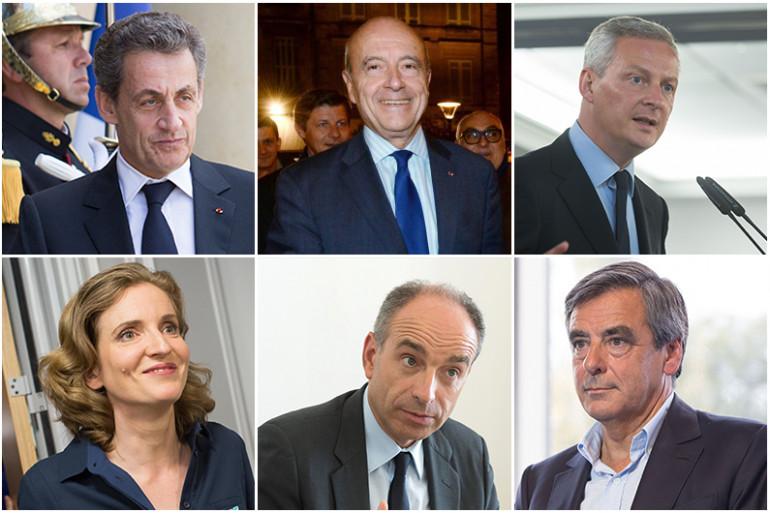Sarkozy, Juppé, Le Maire... les candidats à la primaire Les Républicains