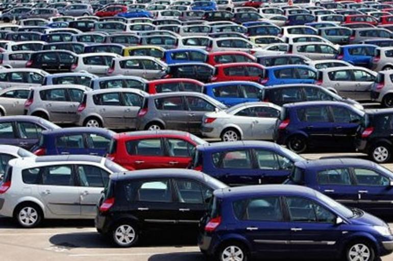 Un parc automobile, en France