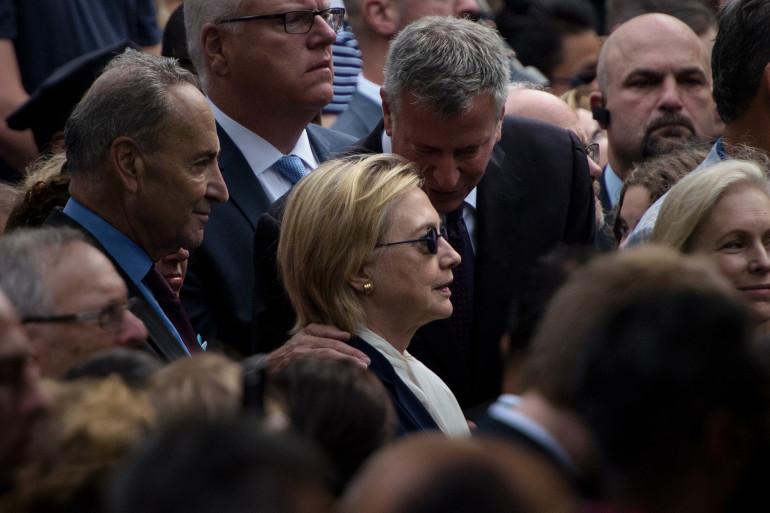 Hillary Clinton à New York le 11 septembre 2016