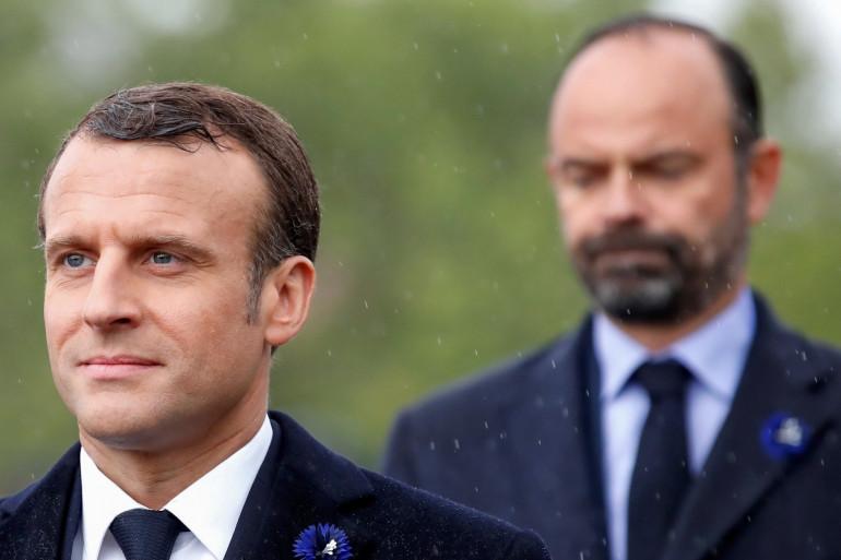 Le président de la République Emmanuel Macron et le Premier ministre Édouard Philippe