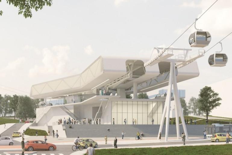 Visuel du projet de téléphérique francilien prévu pour 2021 par la région Île-de-France