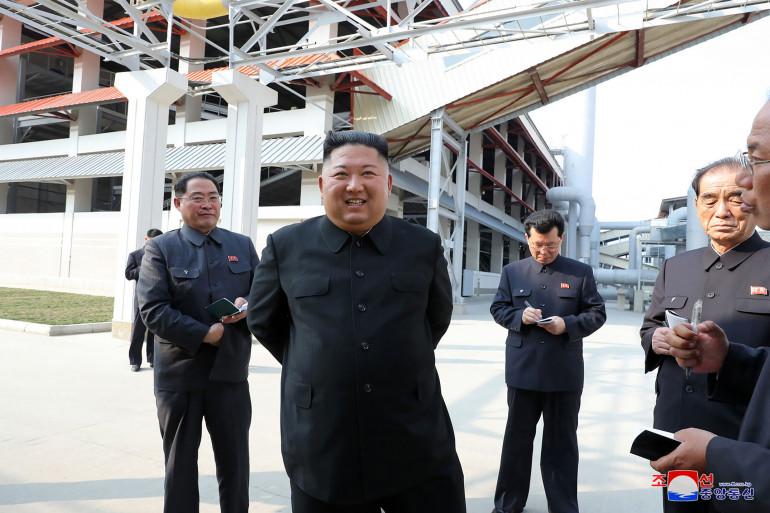 KIm Jong Un, le 1er mai 2020, selon l'agence de presse nord-coréenne