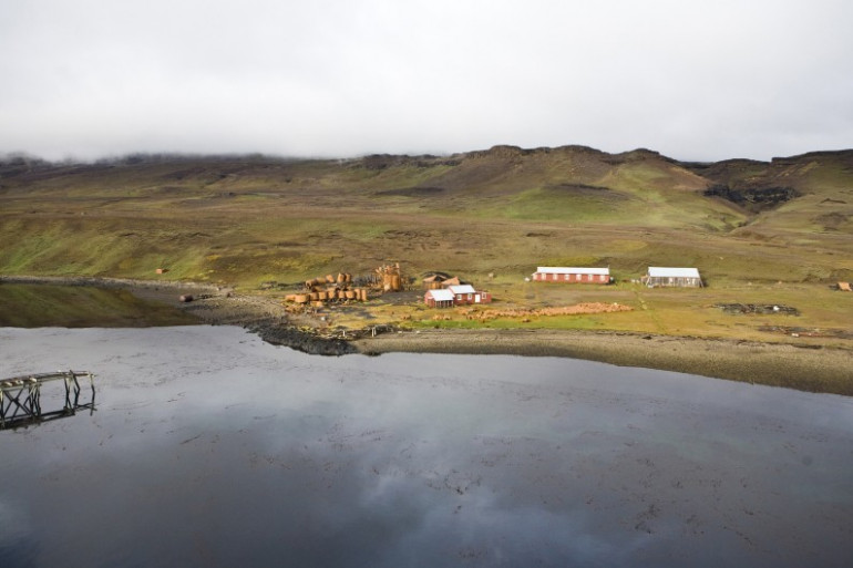 Une vue des îles Kerguelen