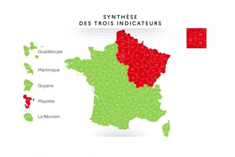 La carte du déconfinement par départements a été présentée jeudi 7 mai.