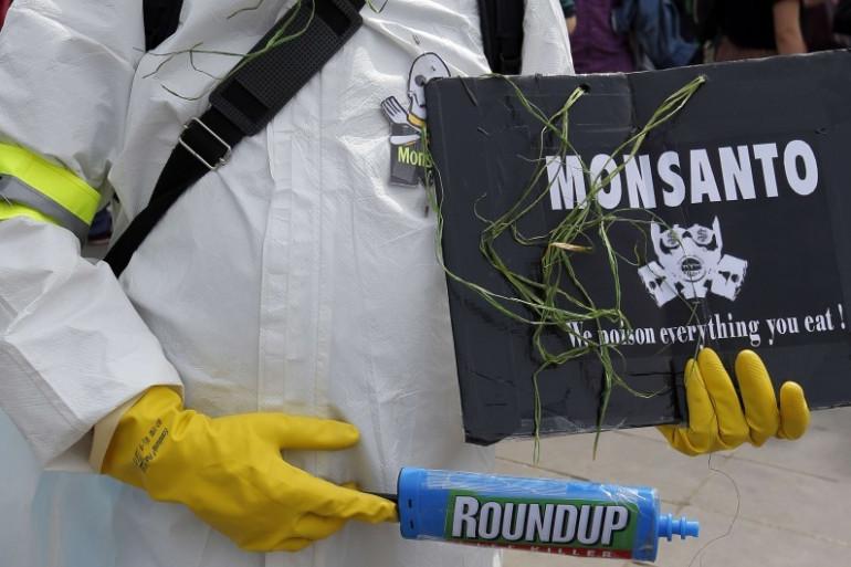 Une manifestation contre Monsanto, le 21 mai 2016 à Paris
