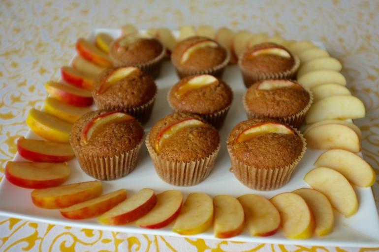 Recette sans gluten de muffin à la compote de pomme et miel