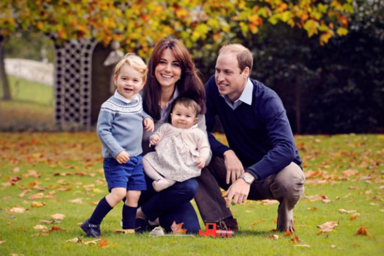 Kate et William avec leurs enfants à Noël 2015