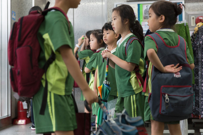 Des écoliers à Séoul en Corée du Sud (illustration)