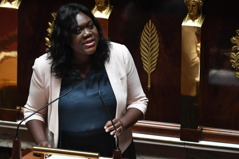 La députée LaREM Laetitia Avia, à l'Assemblée nationale le 3 juillet 2019.