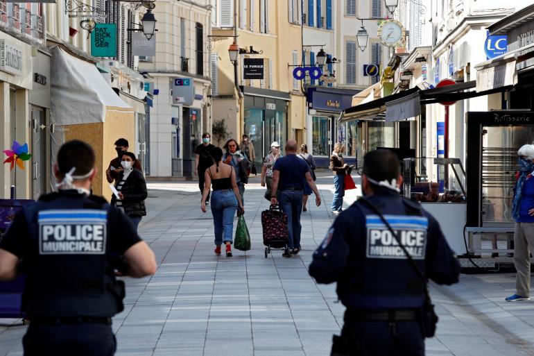 La police municipale à Sceaux, le 8 avril 2020