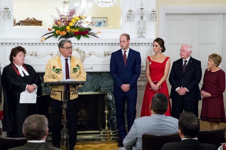 Kate Middleton et le prince William à la réception organisée à la Government House