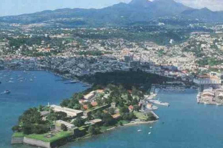 Fort de France (Martinique) vue du ciel