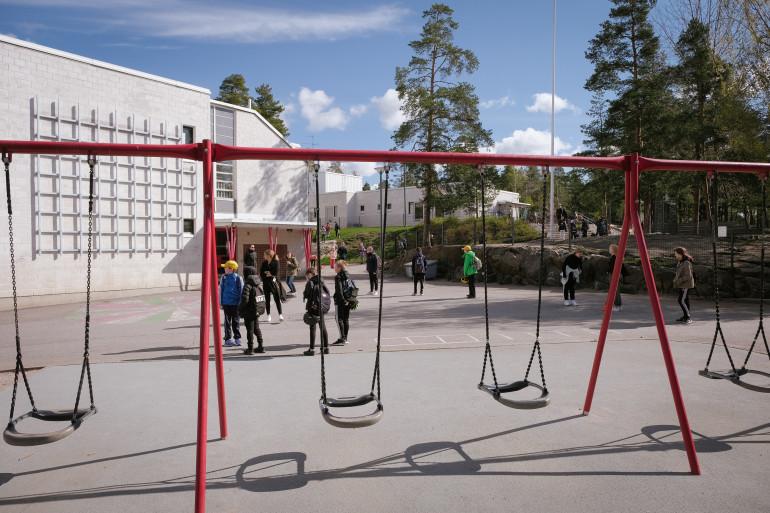 Une école en Finlande (illustration)