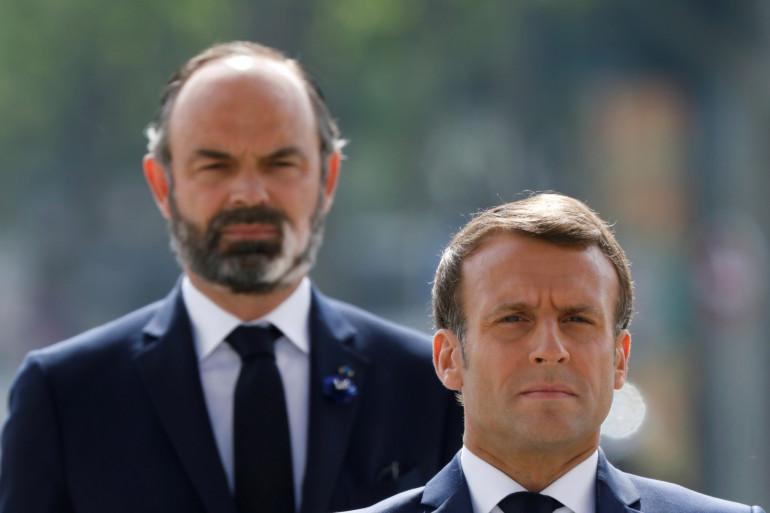 Le président français Emmanuel Macron et le Premier ministre français Edouard Philippe