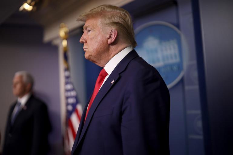 Donald Trump à Washington, le 3 avril 2020.