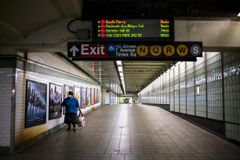 Une station de métro à New York (illustration)