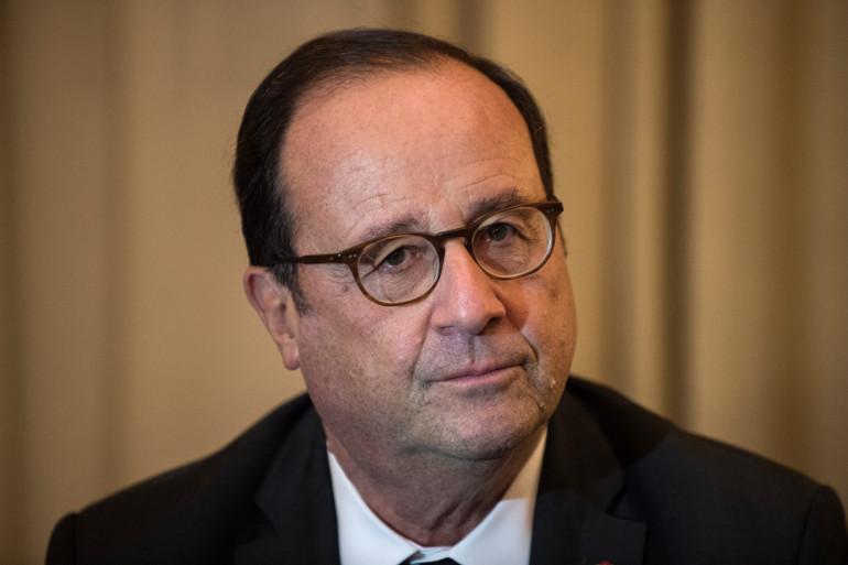 L'ancien président de la République François Hollande à Paris, en 2017