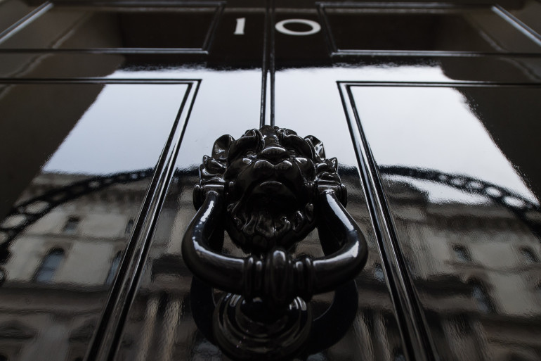 Le 10, Downing Street à Londres, résidence du Premier ministre britannique