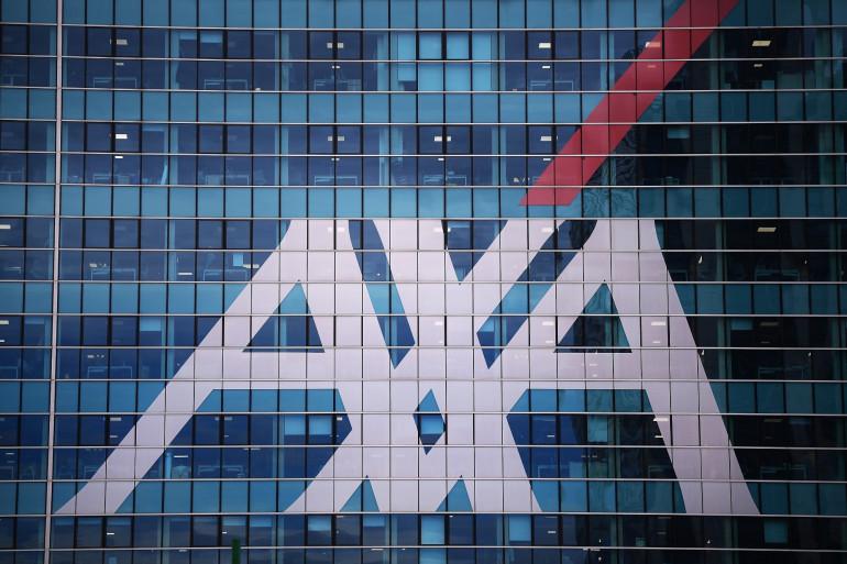 Le logo d'AXA à Milan, en novembre 2017.