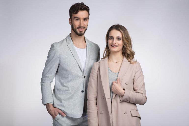 Le patineur Guillaume Cizeron et la patineuse Gabriella Papadakis le 28 mars 2018.