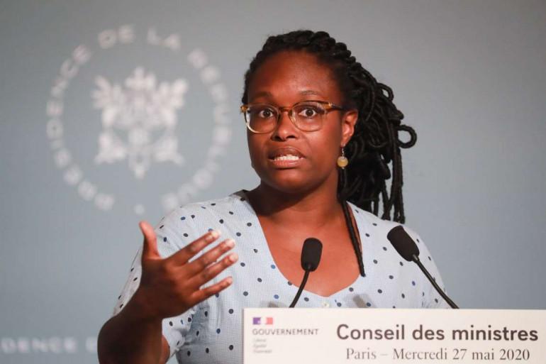 Sibeth Ndiaye, à l'issue du Conseil des ministre, le 27 mai 2020.