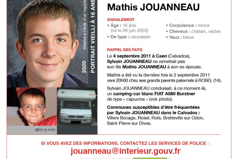 Appel à témoins - Mathis Jouanneau