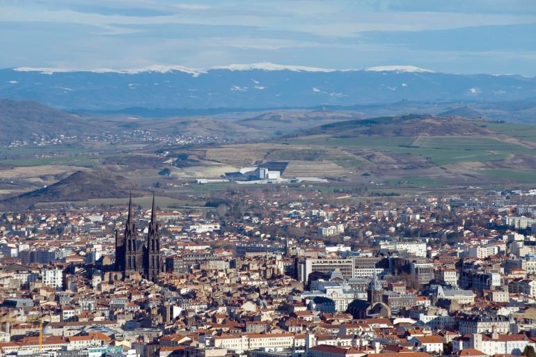 La ville de Clermont-Ferrand dans le Puy-de-Dôme (illustration)