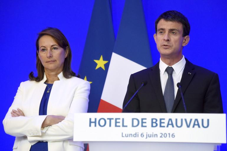 Ségolène Royal et Manuel Valls, le 6 juin 2016